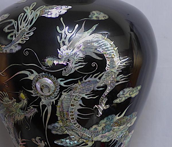青貝、螺鈿細工、壺